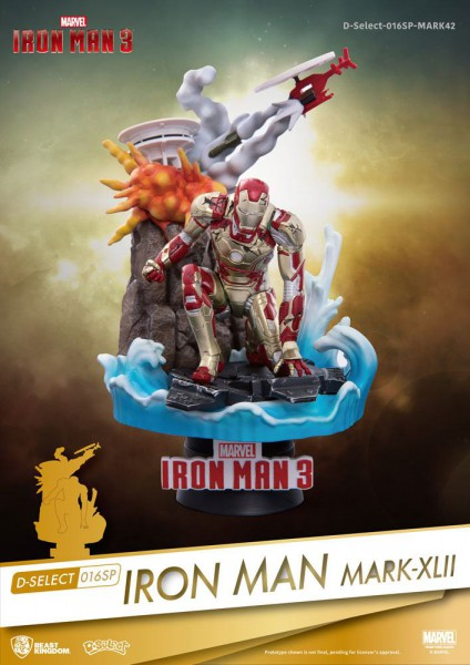 Marvel - Iron Man Mark XLII Figur / D-Select: Beast Kingdom Toys