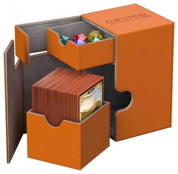 Ultimate Guard - Flip 'n' Tray Deck Case 80+ / XenoSkin Orange