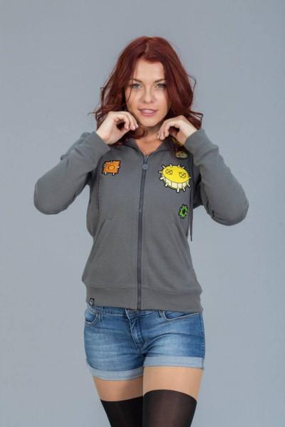 Overwatch - Hoody mit Reißverschluß / Junkrat - Girlie S: Level Up Wear