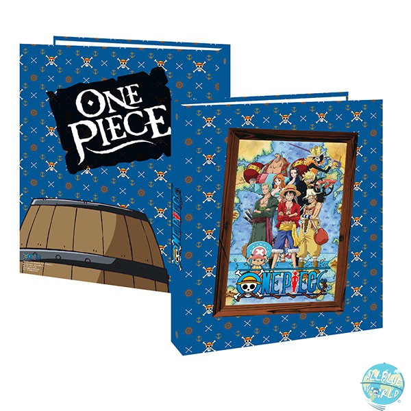 One Piece Ordner A4 4-Ring - Strohhut Piratenbande