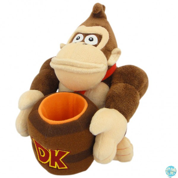 Nintendo - Donkey Kong mit Fass Plüschfigur