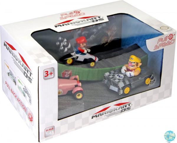 Mario Kart Pull & Speed DS Rückzug-Fahrzeuge 3er-Pack