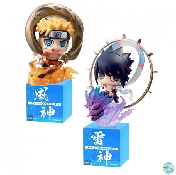 Naruto Shippuuden - Fujin & Raijin Minifiguren 2er-Pack - Petit Chara Land: MegaHouse