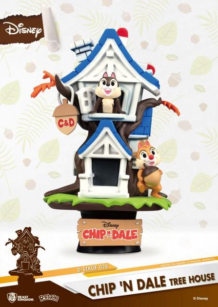 Disney - Chip und Chap Baumhaus Figur / D-Stage: Beast Kingdom Toys