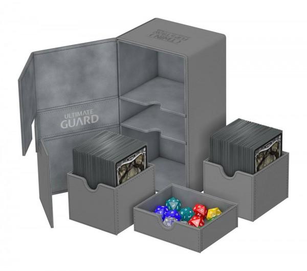 Ultimate Guard - Twin Flip 'n' Tray Deck Case 200+ / XenoSkin Grau