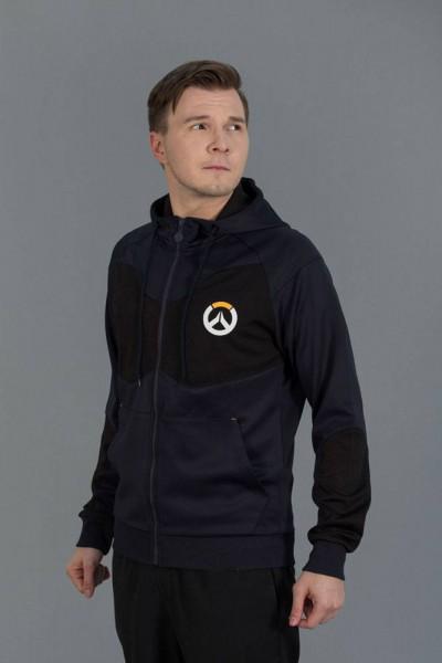 Overwatch - Hoody mit Reißverschluß / Tech Logo - Unisex M: Level Up Wear