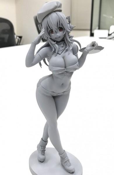 Super Sonico - Sonico Figur / Military Version: Furyu