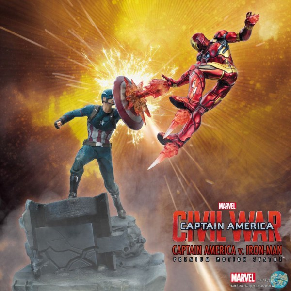 Captain America Civil War - Captain America vs Iron Man Statue / Premium Motion: Factory Entertainme