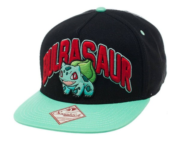 Pokemon - Bulbasaur Hip Hop Cap - Snap Back: Bioworld