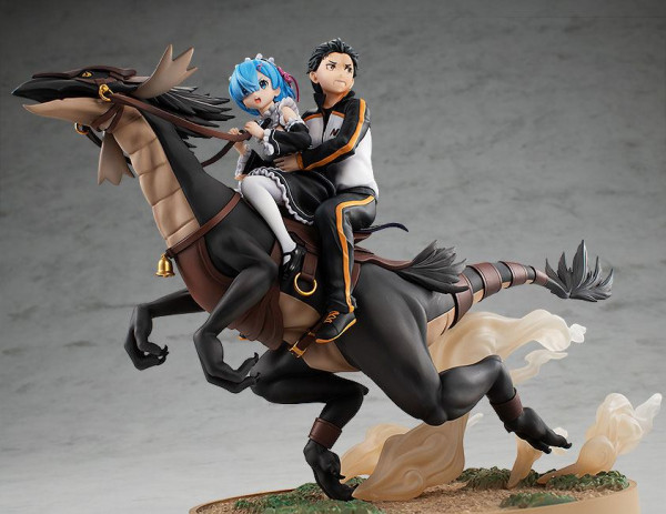 Re:Zero Starting Life in Another World - Rem & Subaru Statue /Attack on the White Whale: Kadokawa