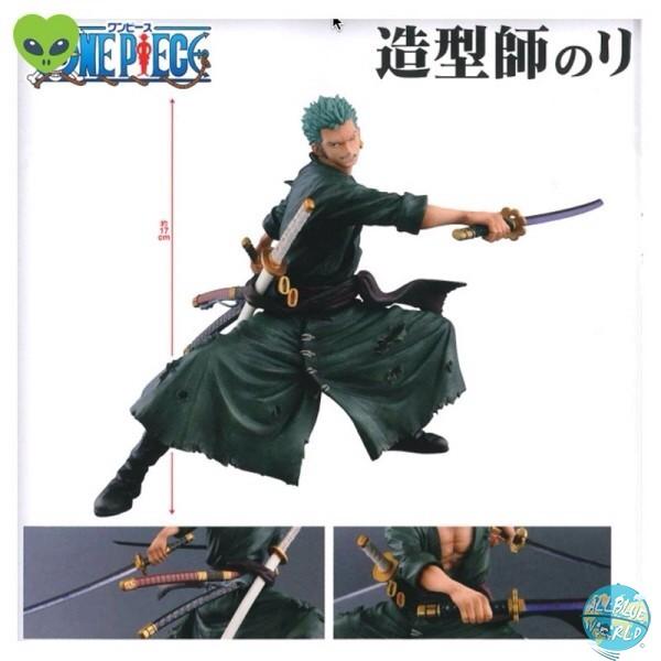 One Piece - Lorenor Zorro Figur - Zoukei Monogatari: Banpresto