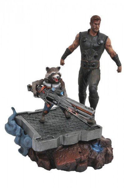 Avengers Infinity War - Thor & Rocket Raccoon Statue / Marvel Premier Collection: Diamond Select