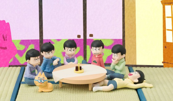 Osomatsu-san - Minifiguren-Set - Palmate / We are family! : MegaHouse