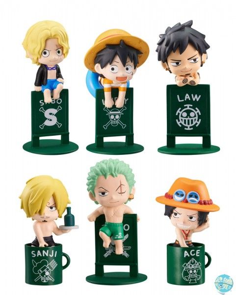 One Piece - Minifiguren - Ochatomo Serie 8er-Set / Pirates Vacation: MegaHouse
