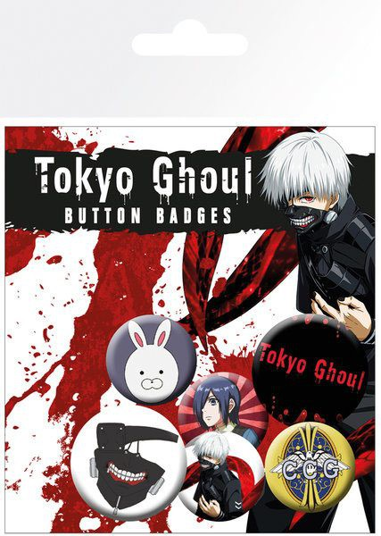 Tokyo Ghoul - Ansteck-Buttons 6er-Pack Mix: GYE