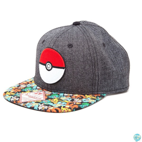Pokemon Poke Ball Hip Hop Cap Snap Back