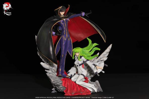 Code Geass - Zero & C.C. Statue: Kitsune