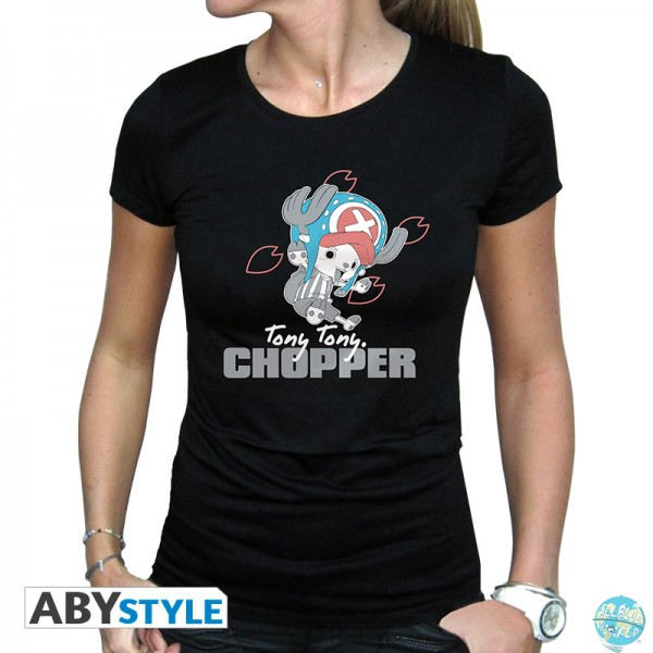 "One Piece Damen T-Shirt - Tony Chopper Größe ""S"": ABYStyle"