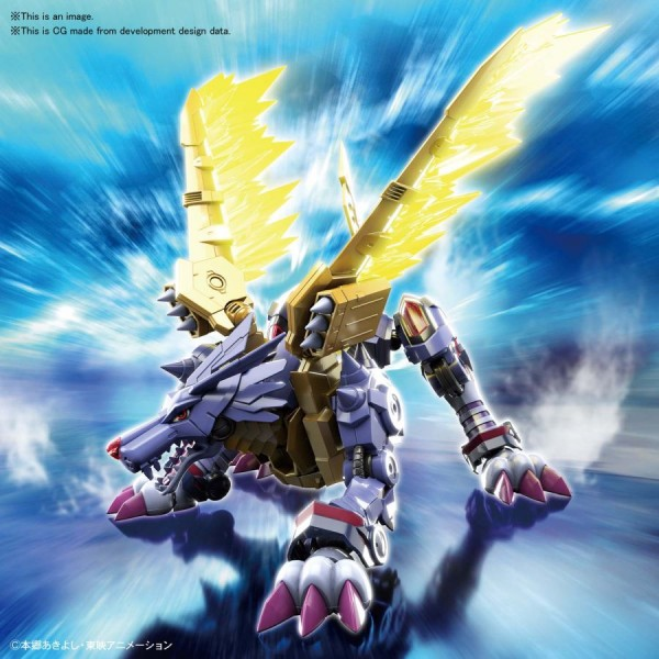 Digimon - Metall Garurumon Model-Kit / Figure-rise Standard Amplified: Bandai Spirits
