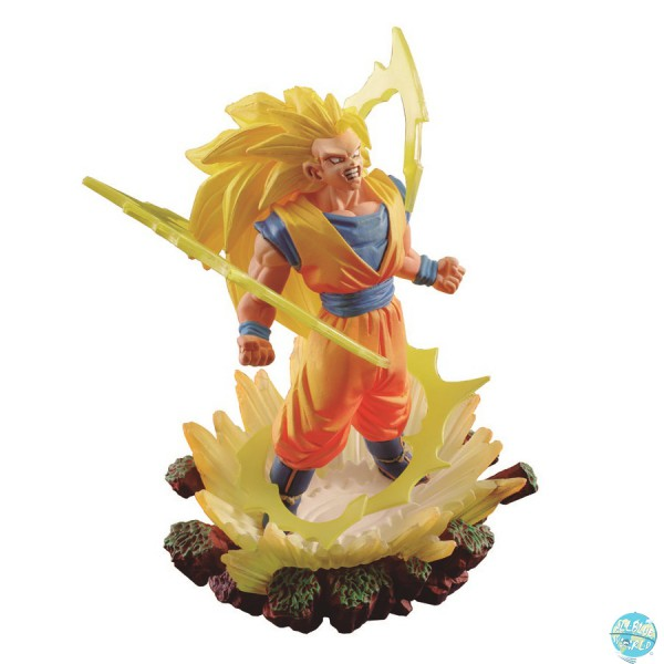 Dragonball - Son Goku Super Saiyan 3 Statue - Dracap Memorial 03: MegaHouse