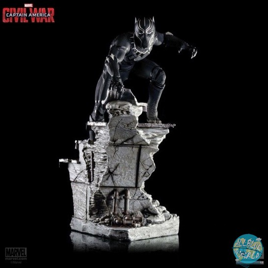 Captain America Civil War - Black Panther Statue: Iron Studios