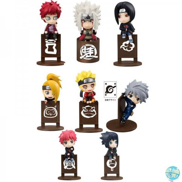 Naruto Shippuuden - Minifiguren - Ochatomo Serie 8er-Set / Let's Enjoy Tea Together : MegaHouse