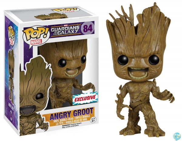 Guardians of the Galaxy Angry Groot Figur - POP! Vinyl Exclusive: Funko