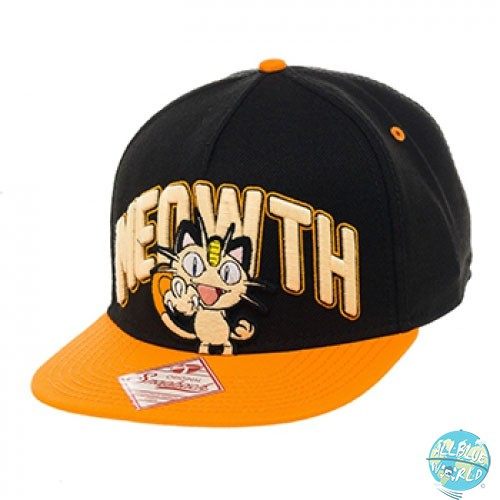 Pokemon Meowth Hip Hop Cap Snap Back