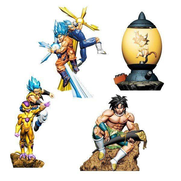 Dragonball Super - Minifiguren 4er-Set / Dracap - Re: Birth Super Power Version: MegaHouse