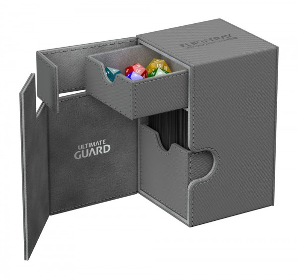 Ultimate Guard - Flip 'n' Tray Deck Case 100+ / XenoSkin Grau