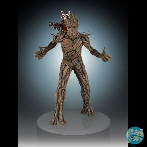Guardians of the Galaxy - Rocket Raccoon & Groot Statue: Gentle Giant