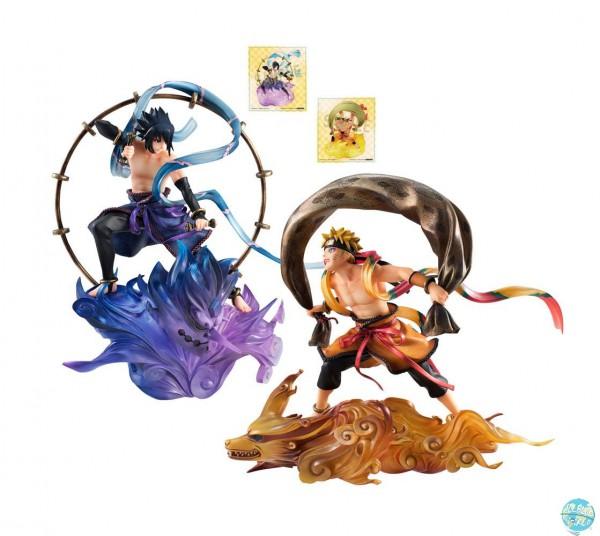 Naruto Shippuden - Sasuke Uchiha Raijin & Naruto Uzumaki Fujin Statuen - G.E.M. Remix Serie: Meg
