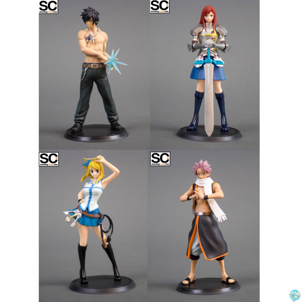 Fairy Tail - Natsu, Lucy, Grey, Erza Figur 4-er Set / Standing Characters: Tsume