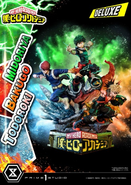 My Hero Academia - Midoriya, Bakugo & Todoroki Statue / Deluxe Bonus Version: Prime 1 Studio