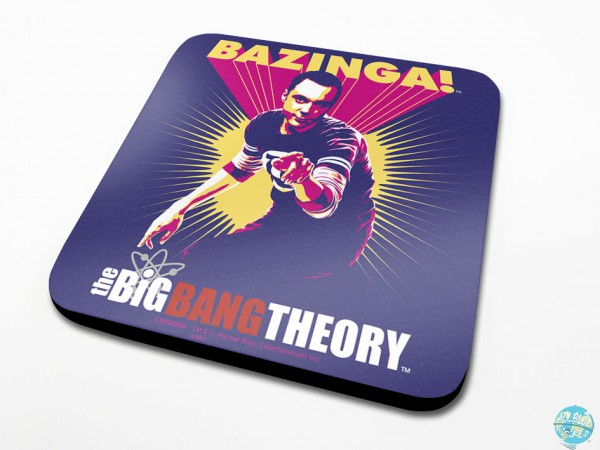 The Big Bang Theory Pyramide Untersetzer Bazinga Purple 6-er Pack