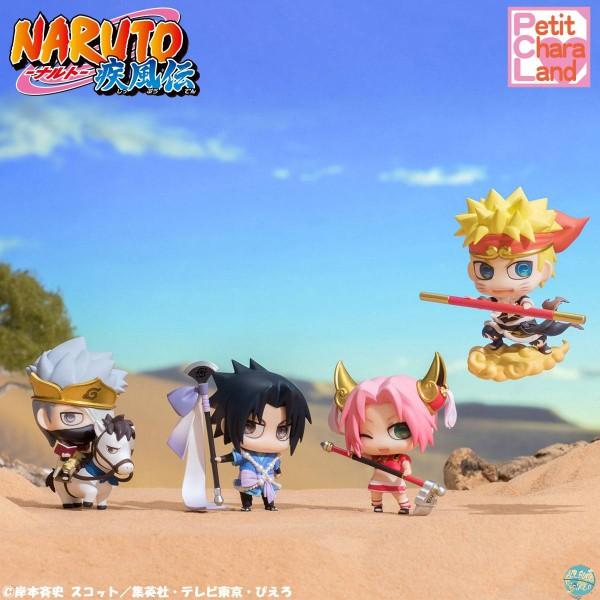 Naruto Shippuden - Minifiguren 4er-Set - Petit Chara / Saiyuki Series: MegaHouse