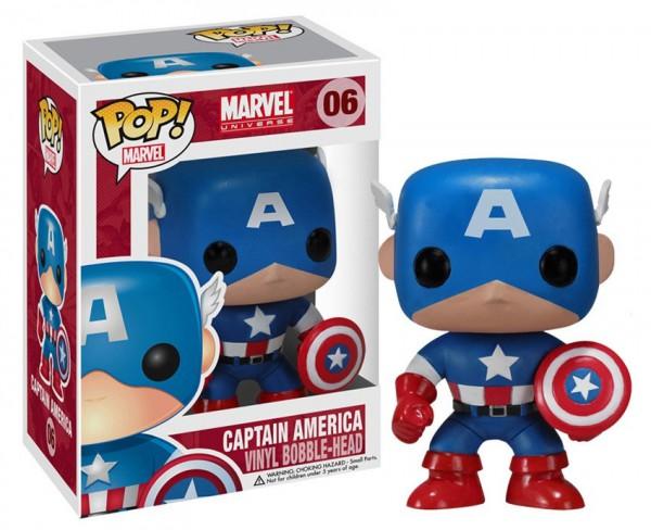 Marvel Comics - Captain America Figur- POP!: Funko