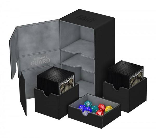 Ultimate Guard - Twin Flip 'n' Tray Deck Case 200+ / XenoSkin Schwarz