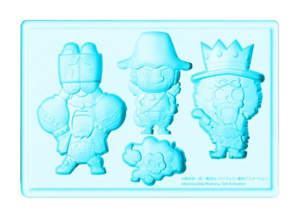 One Piece Silikon-Form Lysop, Franky & Brook