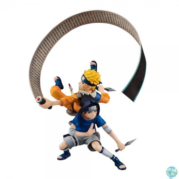 Naruto Shippuden - Naruto & Sasuke Statue - G.E.M. Remix Serie: MegaHouse
