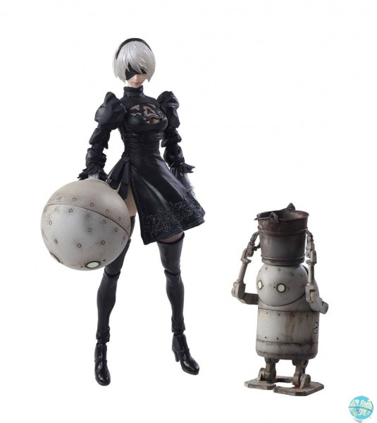 NieR Automata - 2B & Machine Lifeform Actionfigur / Bring Arts: Square Enix