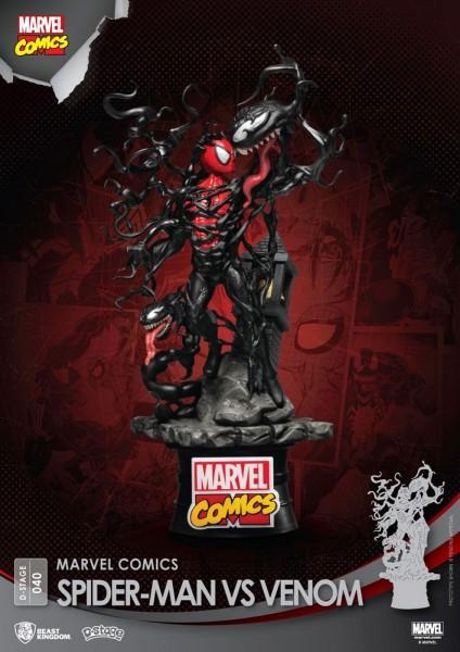 Marvel Comics - Spider-Man vs. Venom Diorama / D-Stage: Beast Kingdom Toys
