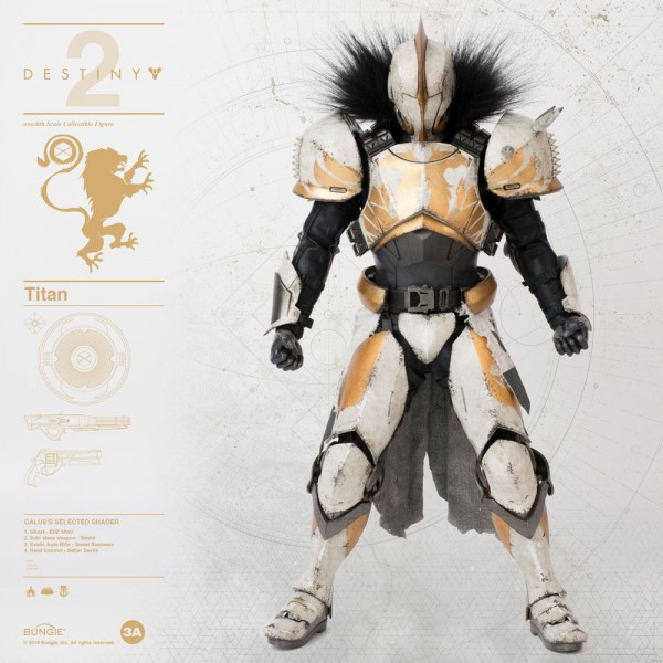 Destiny 2 - Titan Actionfigur / Calus's Selected Shader: ThreeAToys