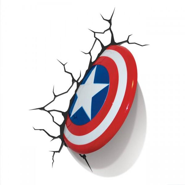 Marvel Comics - 3D LED Leuchte - Captain America Shield: 3Dlight