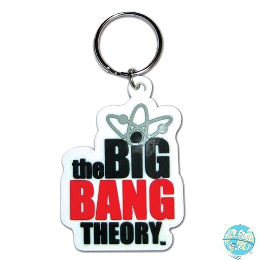 The Big Bang Theory Pyramide Gummi-Schlüsselanhänger Logo 6cm