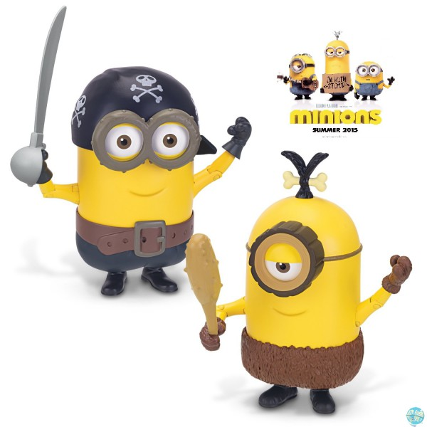 Minions Deluxe - Build-A-Minion Pirate Actionfigur: Thinkway Toys