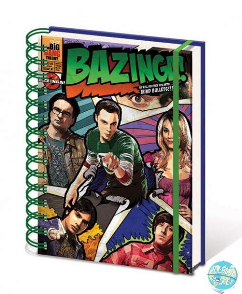 The Big Bang Theory A5 Comic Style Notizbuch A5
