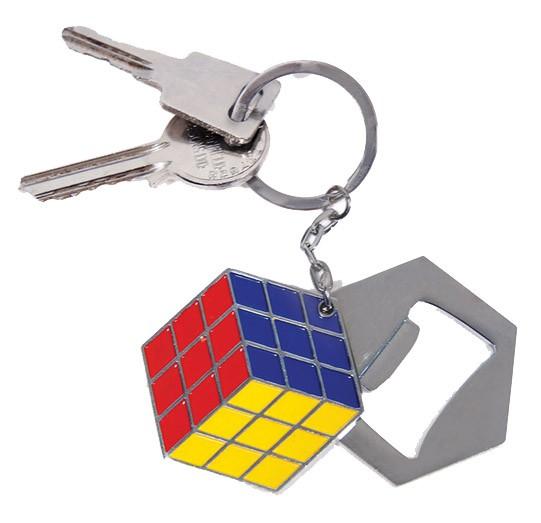 Rubiks Würfel - Metall Schlüsselanhänger mit Flaschenöffner: Paladone