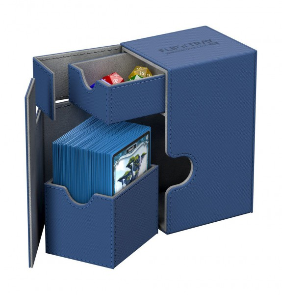 Ultimate Guard - Flip 'n' Tray Deck Case 80+ / XenoSkin Blau
