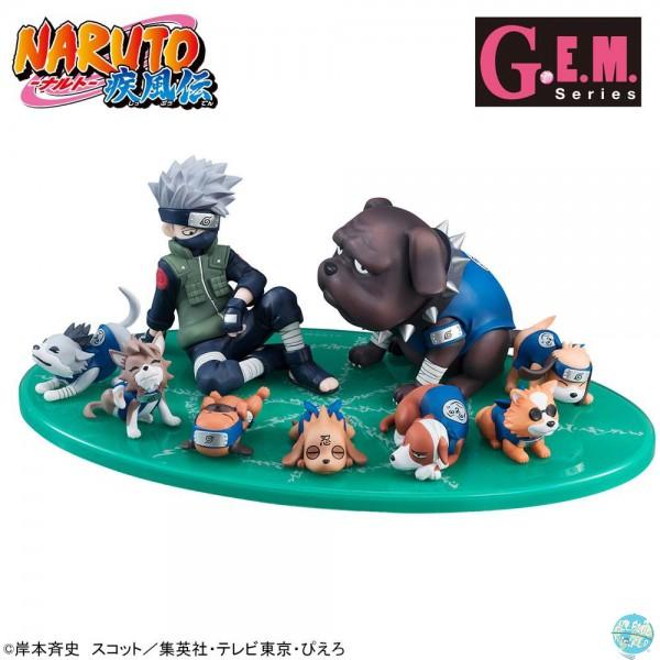 Naruto Shippuden - Kakashi & Ninken Ninja Dog Set: MegaHouse